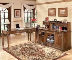 Office Furniture Desk Hutch by Hamlyn 4 Piece Modular L Shaped Desk By Signature Design By Ashley