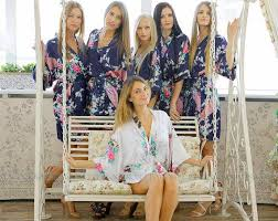 and bridesmaid robes sale set of 7 kimono satin robes bridesmaid robe bridesmaid gift