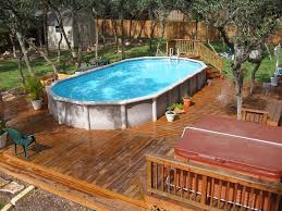 Backyard Above Ground Pool Ideas How To Select Above Ground Pool Decks Blogbeen