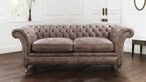 Black Leather Chesterfield Sofa Grey Leather Chesterfield Sofa Home And Textiles
