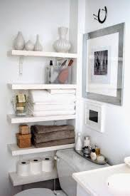 bathroom shelf decorating ideas best 25 small bathroom shelves ideas on corner