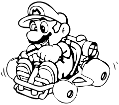 simple nintendo kir coloring pages to print riding on yoshi