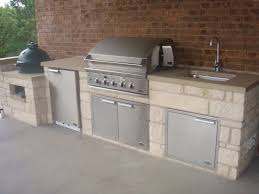 Outdoor Kitchen With Sink Outdoor Kitchens Jc Stoneworks Georgetown Tx