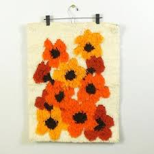 small lath hook wall hanging latch hook wall hanging poppies