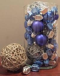 hanukkah wreath ornament wreath with dreidel blue by dottiegray