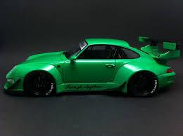 porsche widebody rwb porsche 911 type 993 rwb green 1 18 gt spirit gt074 selection rs