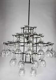 Wine Glass Chandelier Diy Home Design Fascinating Chandelier Wine Glass Hanging Home