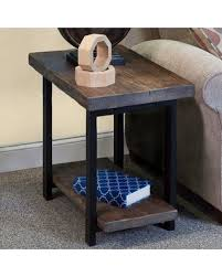 reclaimed wood end table metal and wood end tables incredible designs captivating looked in
