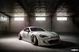 widebody subaru brz absolutely gorgeous subaru brz with a wide body kit and rotiforms