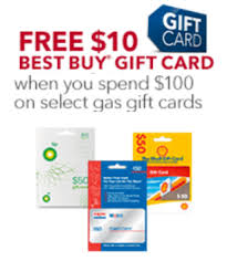 gift cards buy free 10 best buy gc w 100 purchase of gas gift cards