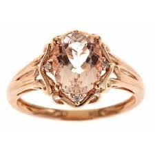 gold and morganite ring morganite rings for less overstock