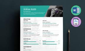 word resume template 2014 photographer resume template word docx doc psd photographer resume template word