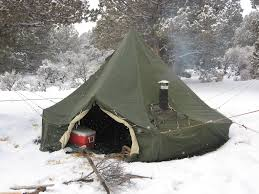 this is a m1950 army tent with a wood stove hook up from what i