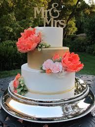 coral wedding cakes coral gold wedding cake cake by let s do cake cakesdecor