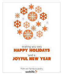 happy holidays from weblife weblife