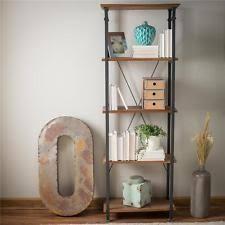 corner bookshelf vertical rustic industrial modern bookcase 5