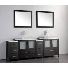84 Inch Double Sink Bathroom Vanity by Amalfi Series 30x18 Inch Vanity Base With Left Side Drawers Free