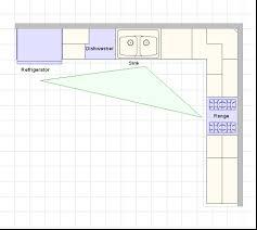 comely l shape kitchen layout