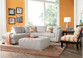 Sectional Sofas Rooms To Go by Cindy Crawford Home Calvin Heights Platinum 3 Pc Sectional Living