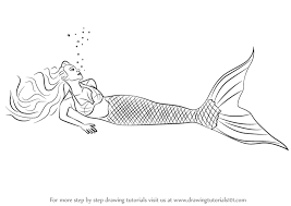 coloring trendy mermaid draw water step 0