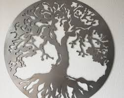 Metal Tree Wall Decor Metal Tree Wall Art Etsy