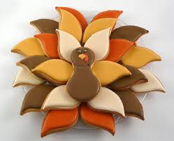 decorated cookies thanksgiving turkey cookie platter