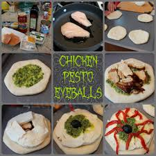 chicken pesto pizza eyeballs recipe
