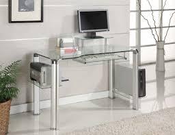 Large Black Computer Desk Office Furniture Glass Top Desk Blue Glass Computer Desk