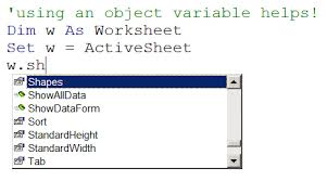 working with shapes in vba