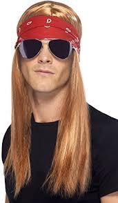 Mens Halloween Costumes Amazon Smiffy U0027s Men U0027s 90 U0027s Rocker Kit Wig Bandana Sunglass Https