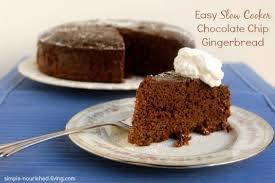 slow cooker gingerbread with chocolate chips weight watchers recipes