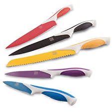 cutlery kitchen knives megalowmart set of 5 colored stainless steel
