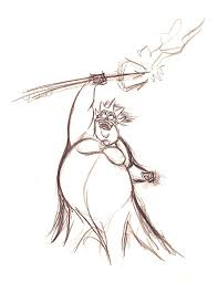 image walt disney sketches ursula walt disney characters