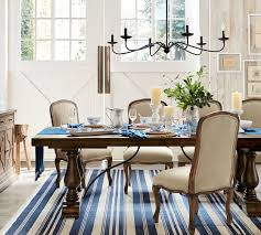 Pottery Barn Dining Room Lighting by Oxford Stripe Recycled Yarn Indoor Outdoor Rug 5 X 8 U0027 Blue