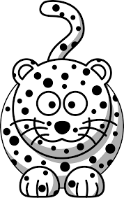 draw cartoon leopard step by step drawing sheets added by dawn