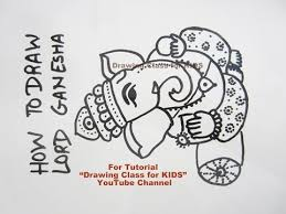 how to draw intricate lord ganesha ganpati drawing sketch tutorial