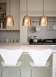 small kitchen light 20 examples of copper pendant lighting for your home