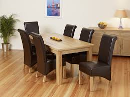 Brown Leather Chairs For Dining Oak And Leather Dining Room Chairs 2306