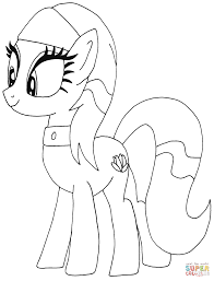 lotus blossom my little pony coloring page free printable
