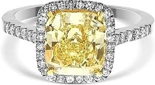 fancy yellow diamond engagement rings 3 05ct cushion cut fancy yellow diamond engagement ring ydcr5333