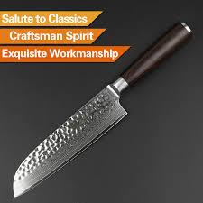 japan kitchen knives xinzuo 7 inch santoku knife japan vg10 damascus stainless steel