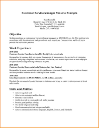Resume Employment Goals Examples by Resume Objectives Customer Service Template