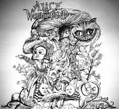 tim burton alice wonderland drawings pesquisa google