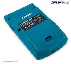 Gameboy Color Console Turquoise Blue Teal Tetris Link Gameboy Color