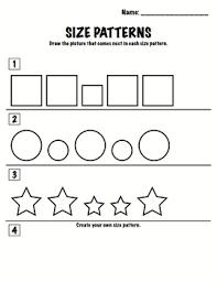 pattern math worksheets preschool kindergarten math patterns size patterns by crystal meyers tpt