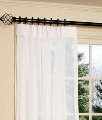 How Wide To Hang Curtains Solution For The Sliding Patio Door Use A One Piece Wood Rod