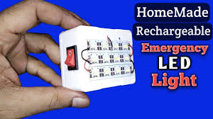 rechargeable light for home how to make rechargeable led emergency light at home youtube