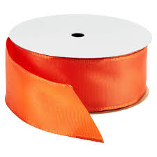 wired ribbon bright orange wired ribbon the container store