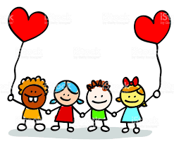 valentines day happy kids lovers holding hands cartoon