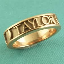 Name Rings Silver Name Ring Silver Gold Palladium U0026 Platinum